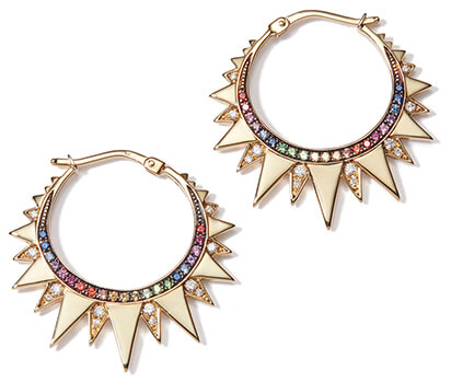 spikey multi-colored venyx ra hoops