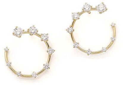GOLD AND DIAMONd fernando jorge earrings
