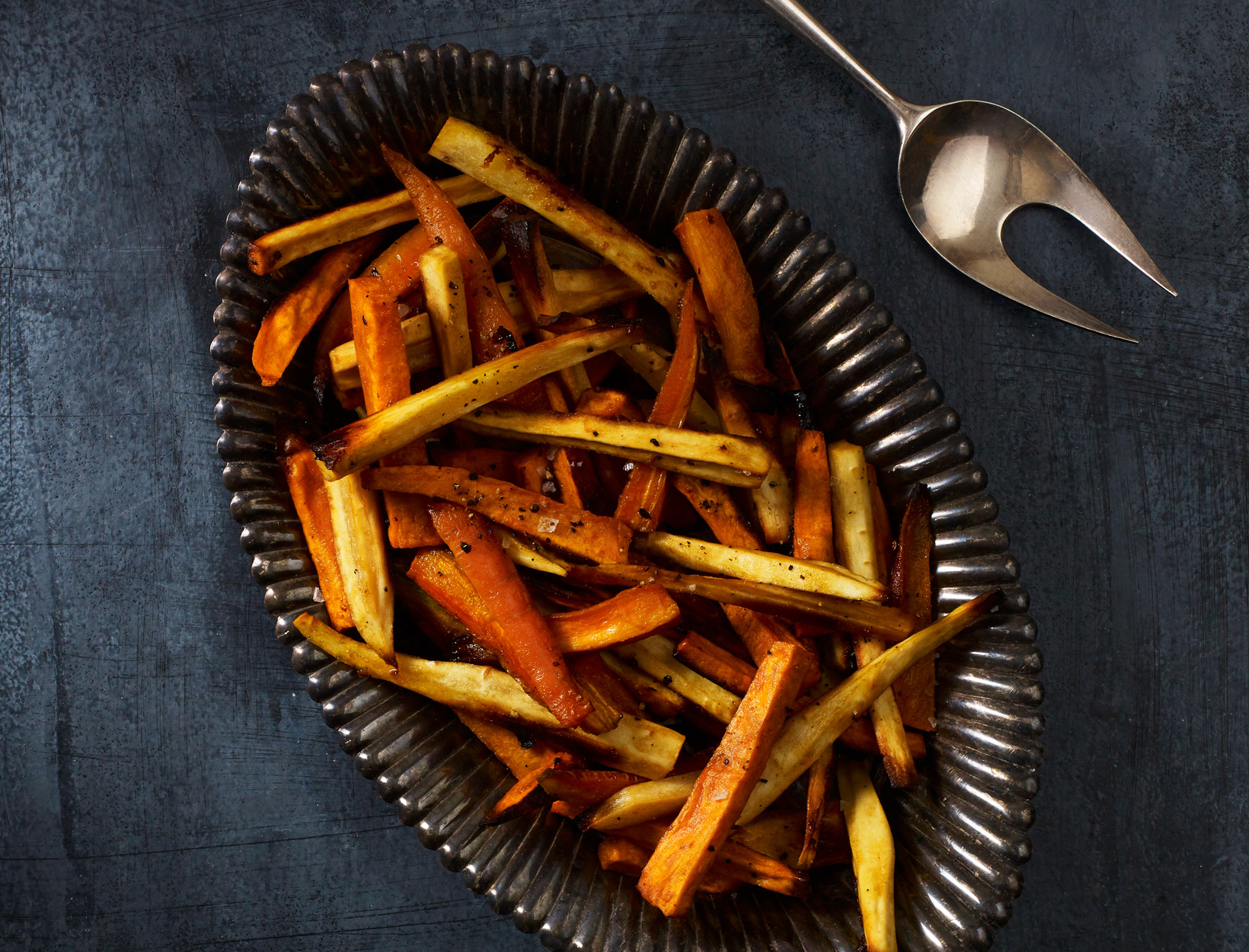 Maple-Dijon Roasted Winter Vegetables