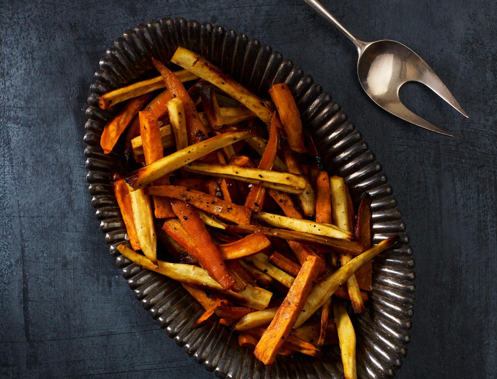Maple-Dijon Roasted Winter Vegetables