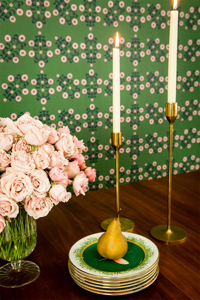 TEMPAPER Block Print Floral