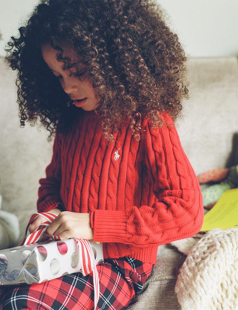 Sai de Silva's daughter London Scout in Ralph Lauren
