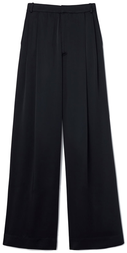 G. LABEL Kelly Satin Wide-Leg Trousers