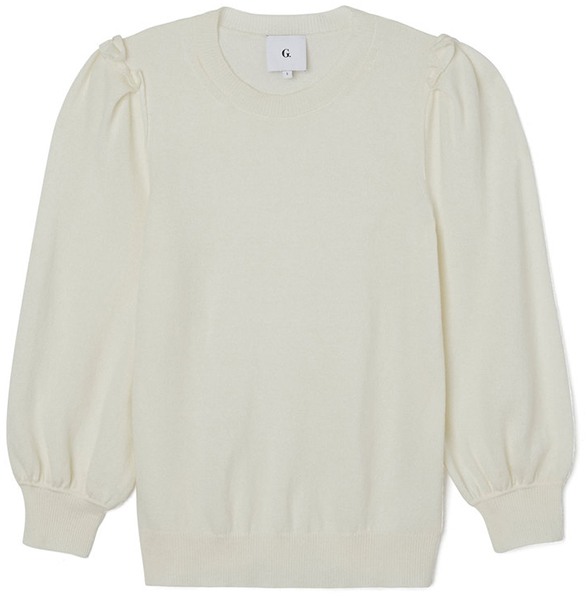G. LABEL PUFF-SLEEVE SWEATER