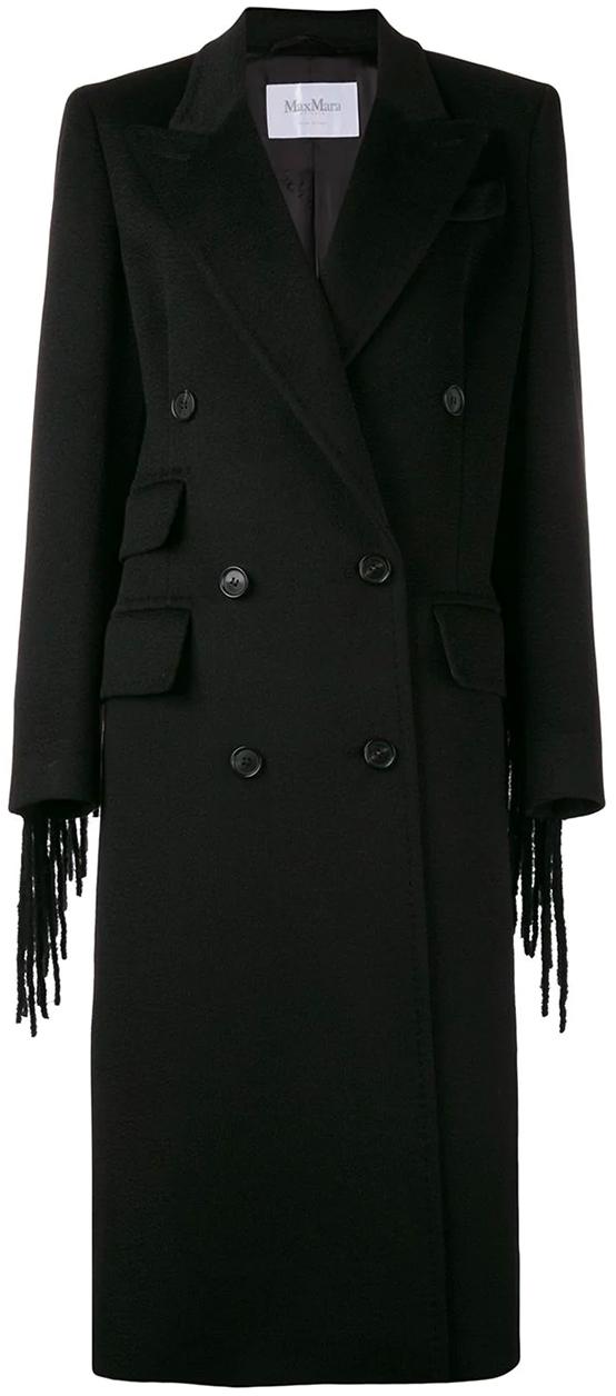 Max Mara Vera Fringed Coat