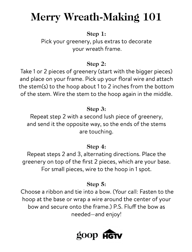wreath making instructions
