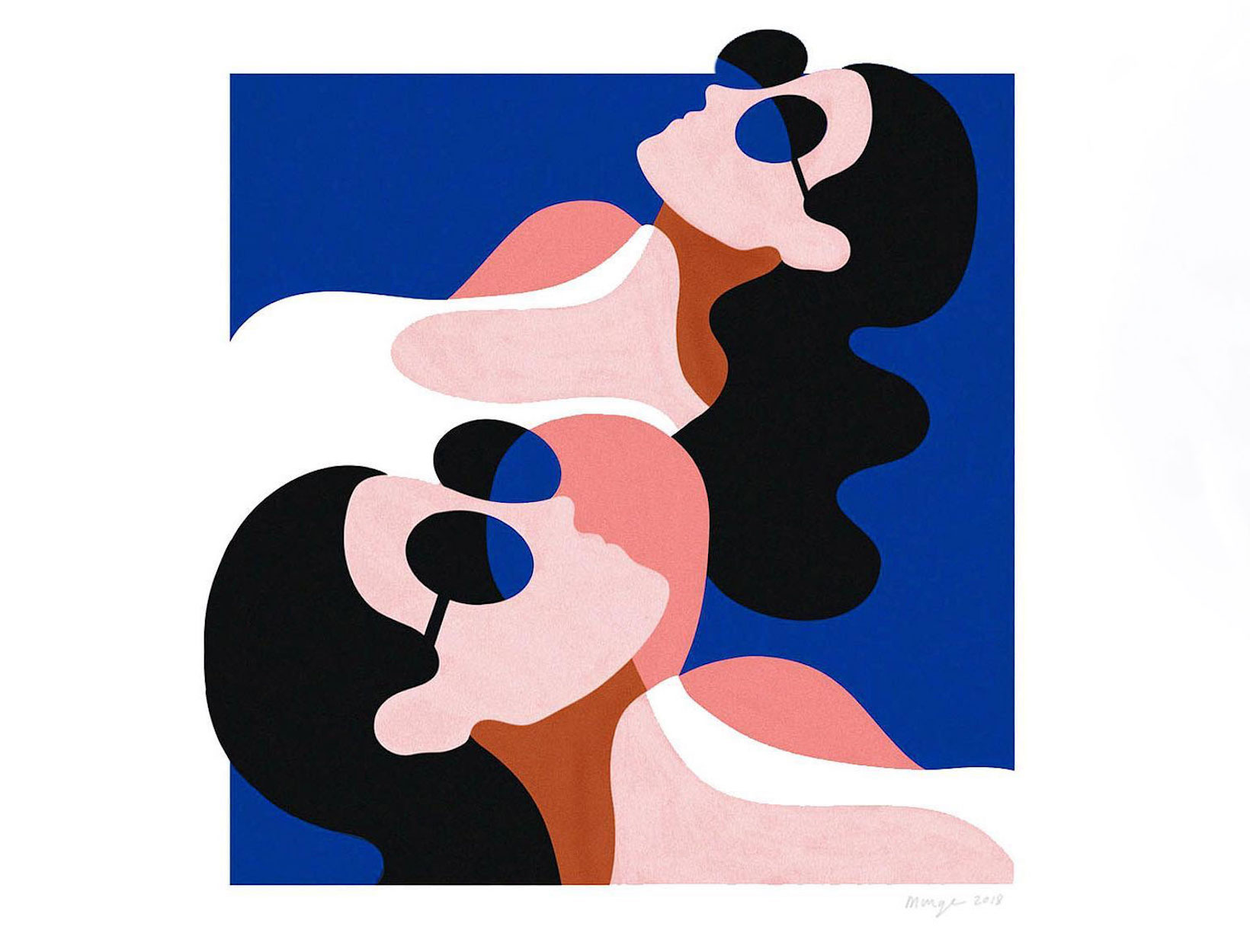 hero image illustration two women laying down in sunglasses