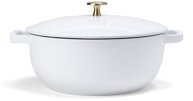 Staub x goop French Oven White