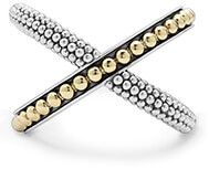 Lagos Gold Beaded X Ring