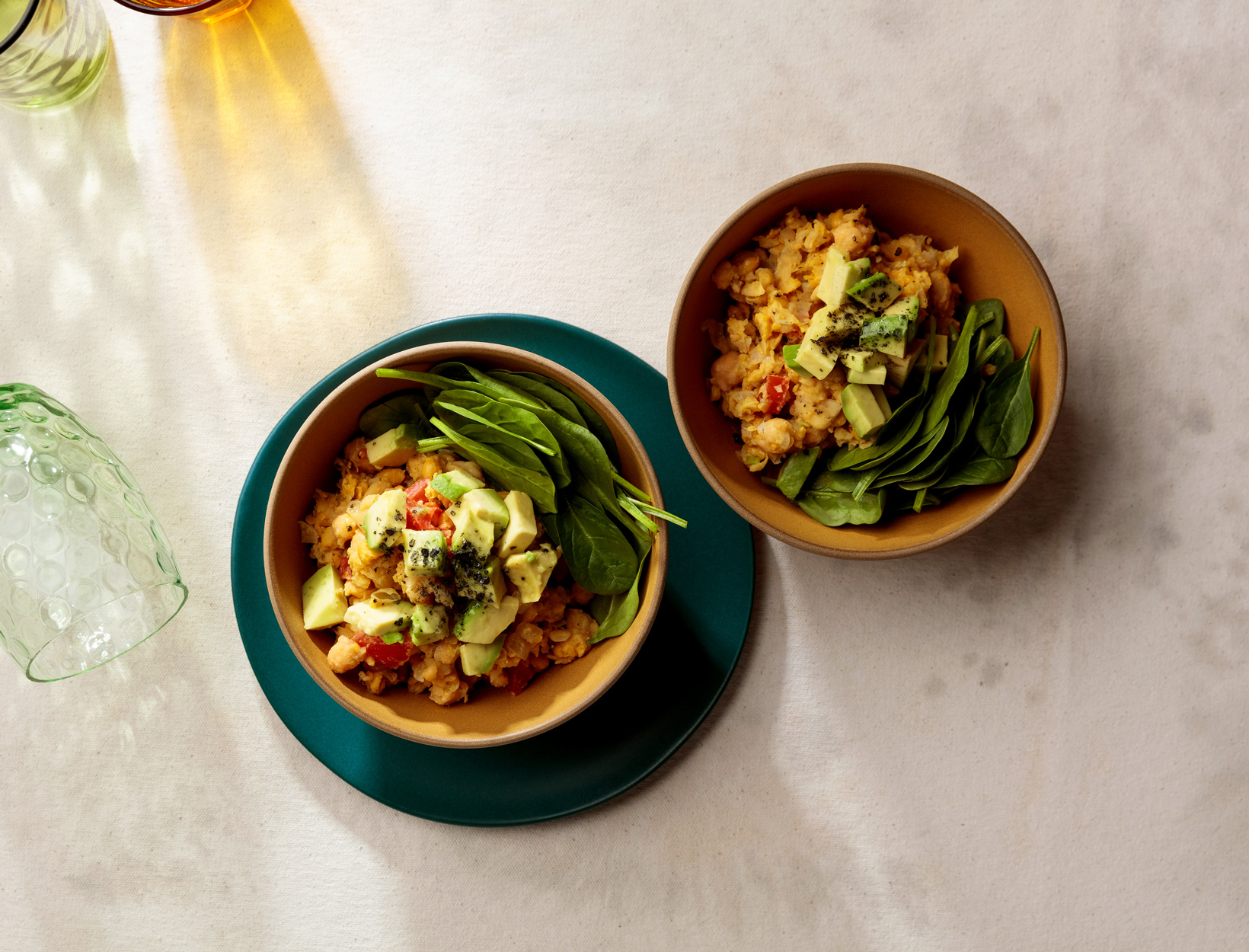 5-Minute Scrambled Chickpea Bowl