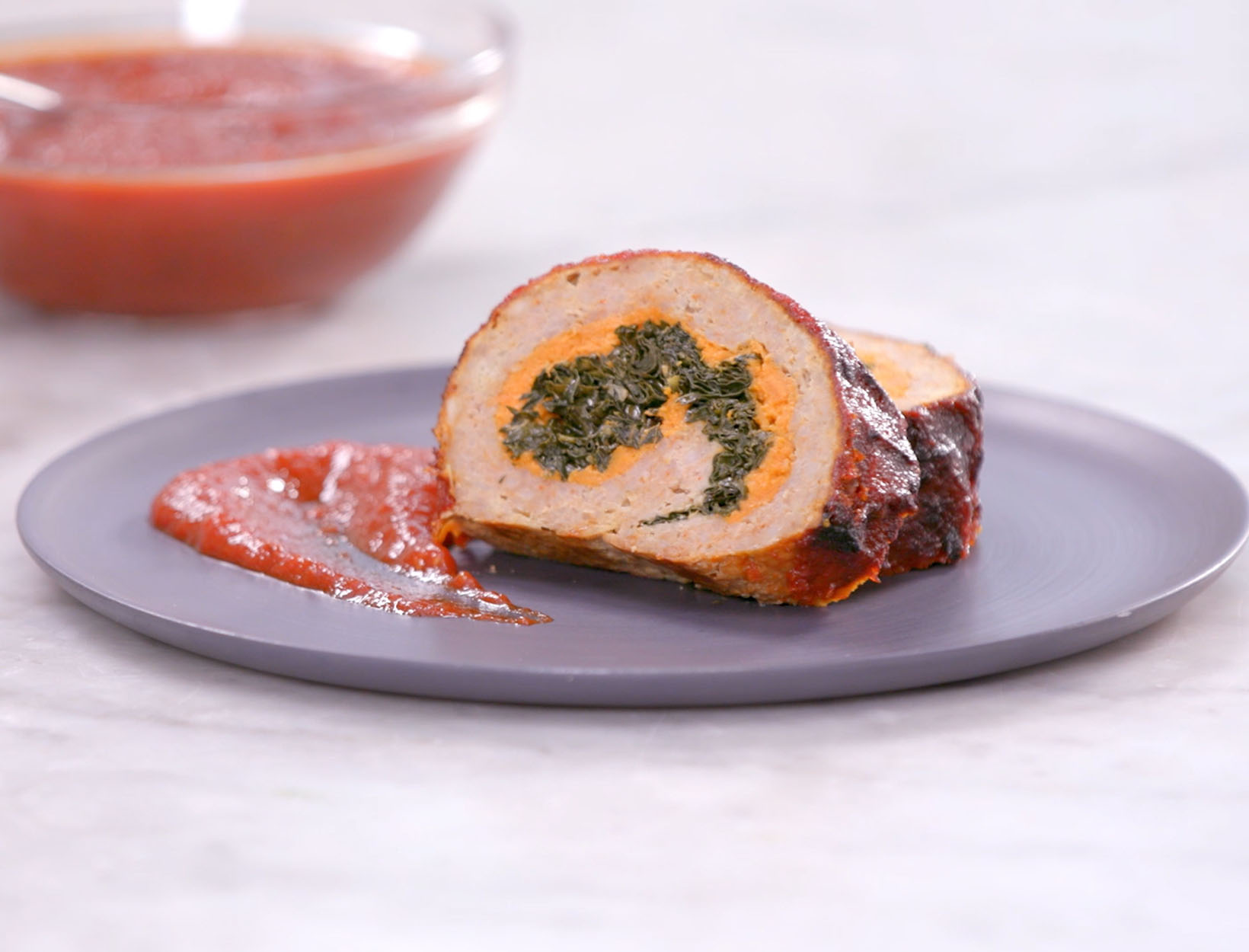 Turkey Meatloaf Roulade with Chipotle Glaze