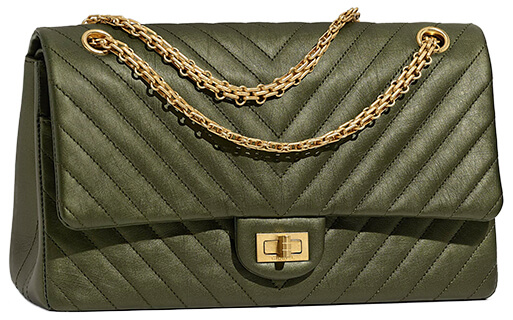 GREEN CHANEL HANDBAG