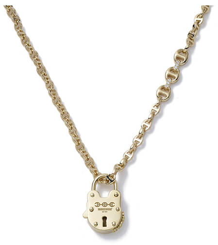GOLD necklace WITH LOCK