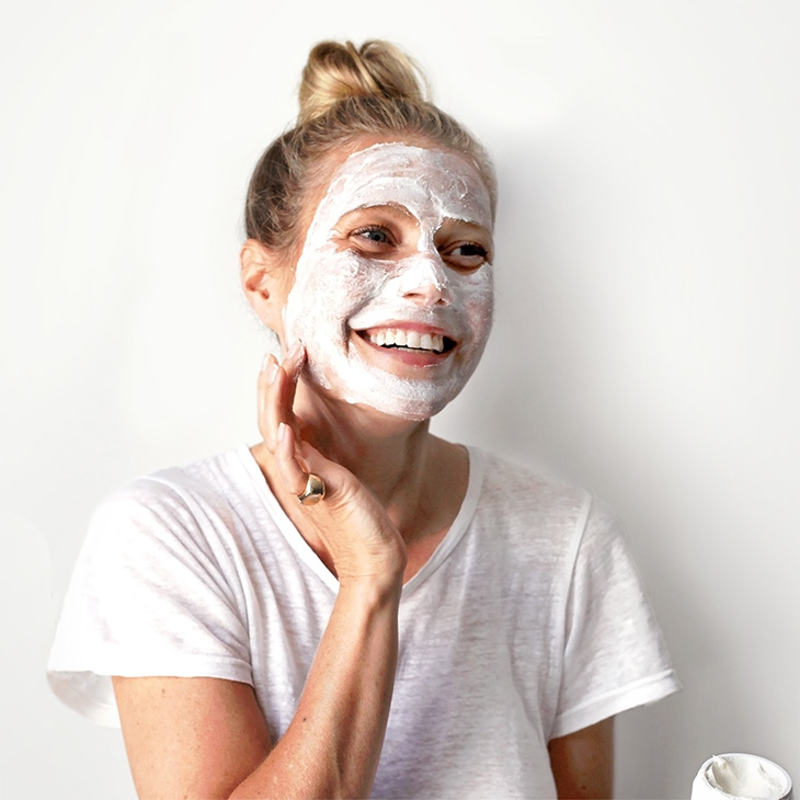 Gwyneth Paltrow applying goop's instant facial