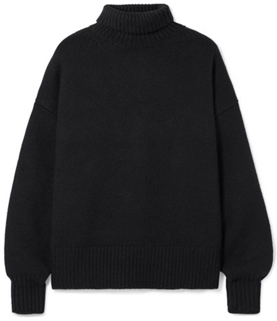 The Row Sweater Black