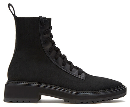 Loeffler Randall Brady Stretch Knit Lace Up Boots