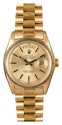 Bob's Watches Yellow Gold Rolex Day Date 1807
