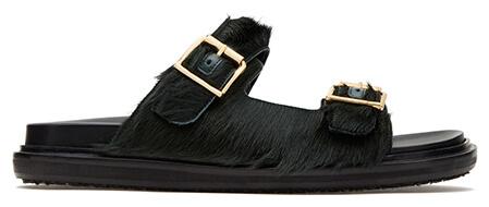 Marni Fussbett Slip-On Green Sandals