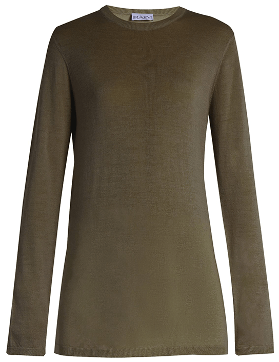 Raey Long Line Fine Knit Cashmere Sweater