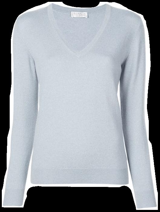 Brunello Cucinelli Cashmere Sweater with Molini Detail