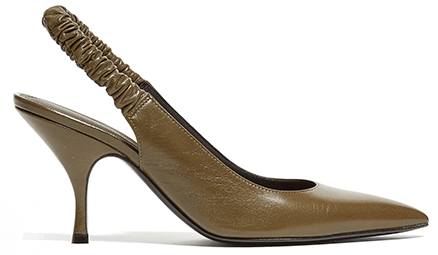 Bottega Veneta Ruched Slingback Leather Pumps