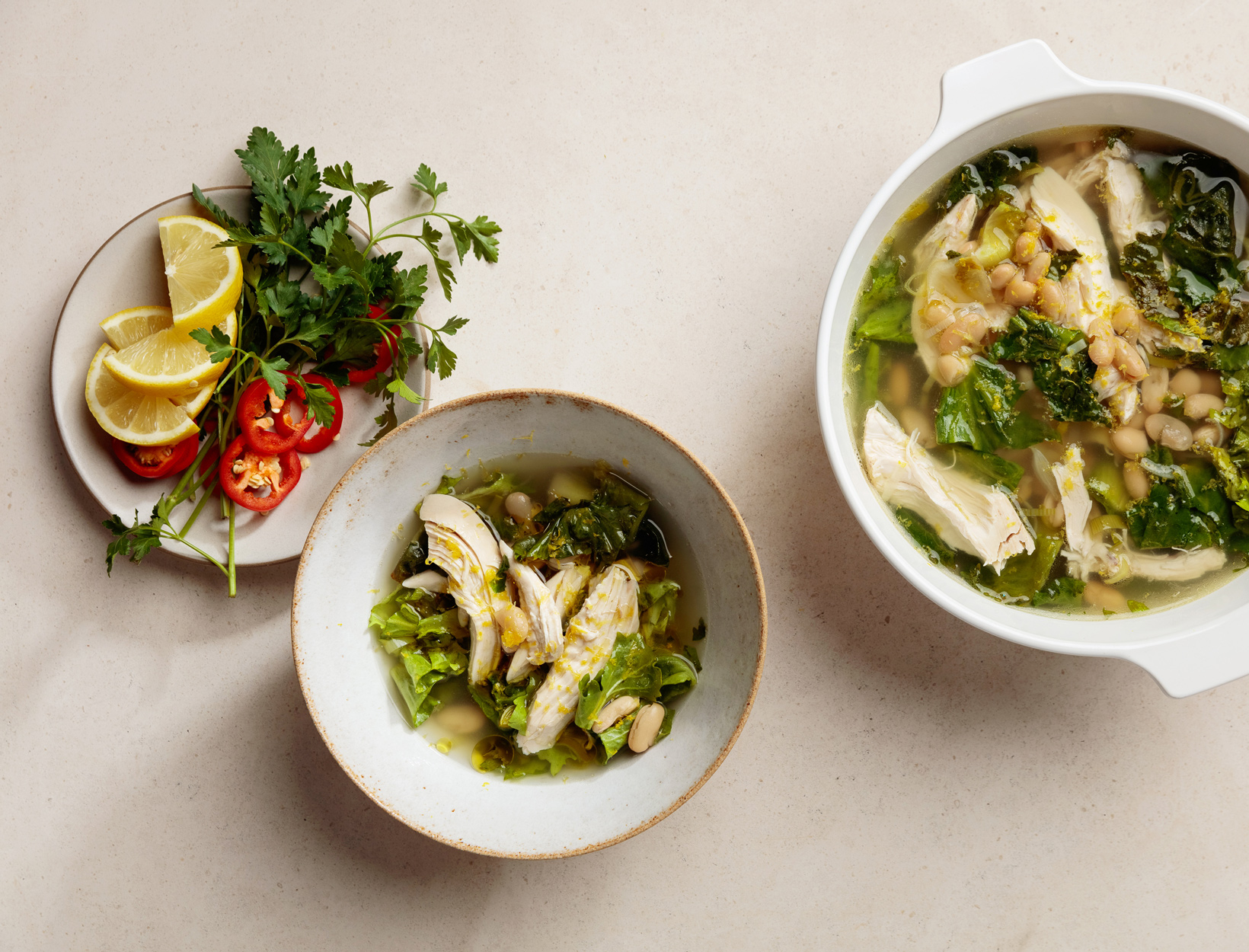 Easiest-Ever Chicken, Leek, and Escarole Soup