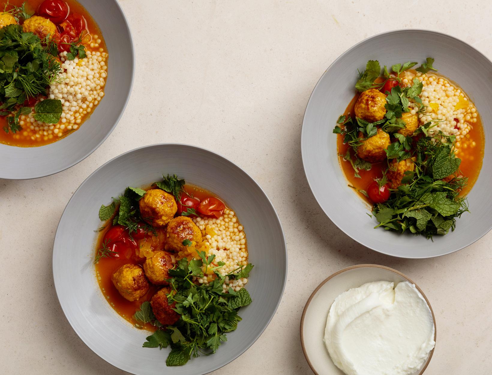 Harissa Meatball Soup