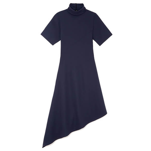 Ren asymmetrical-hem dress