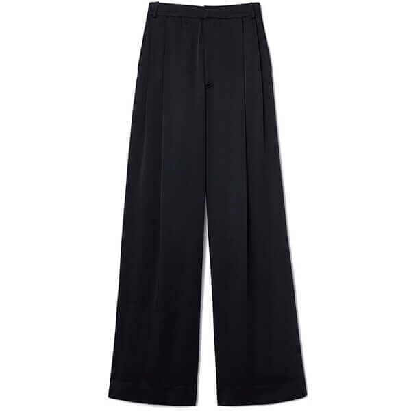 kelly satin wide-leg trousers