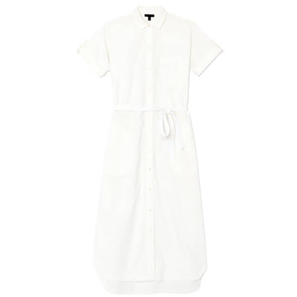 ATM Anthony Thomas Melillo Short Sleeve Belted Shirt Dress