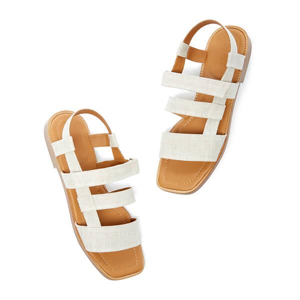 By Far Elio Linen Sandals