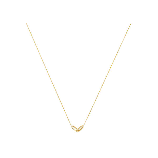 Lizzie Mandler Linked Yellow Gold Necklace