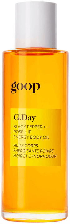 goop Body G.Day Black Pepper and Rose Hip Energy Body Oil