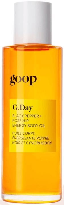 goop Body G.Day Black Pepper + Rosehip Energy Body Oil