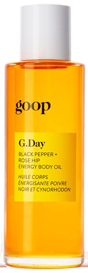 goop Body G.Day Black Pepper + Rose Hip Energy Body Oil