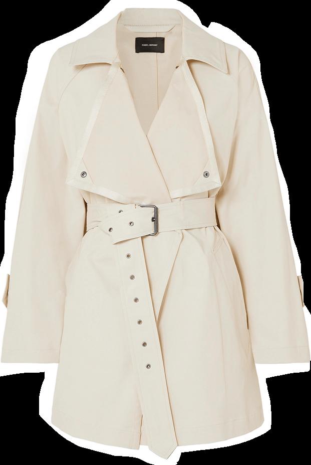 Isabel Marant Jamelo Cotton Blend Gabardine Trench Coat