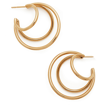 Michellle Fantaci Yellow Gold Hoops