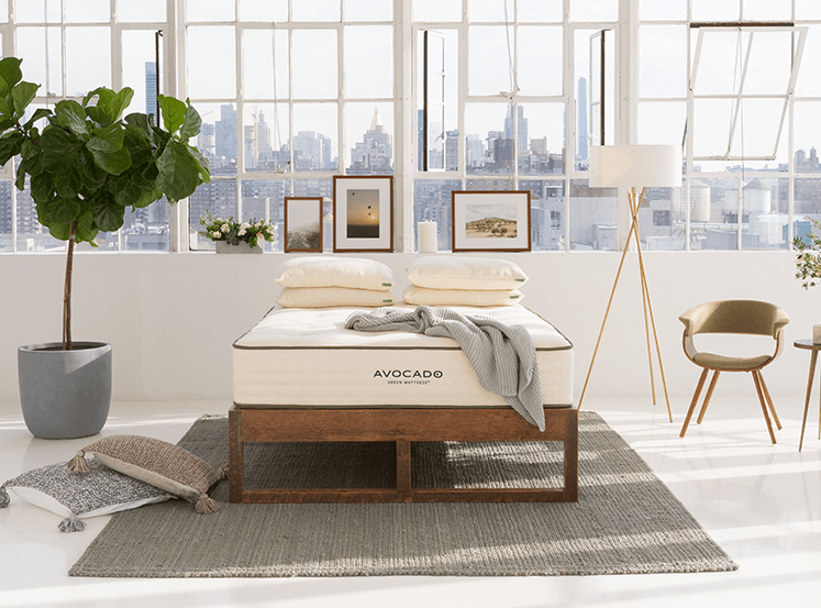 Avocado Green Mattress & Eco Wood Bedframe