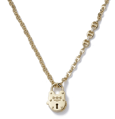 Hoorsenbuhs Open Link 18k Gold Necklace with Lock