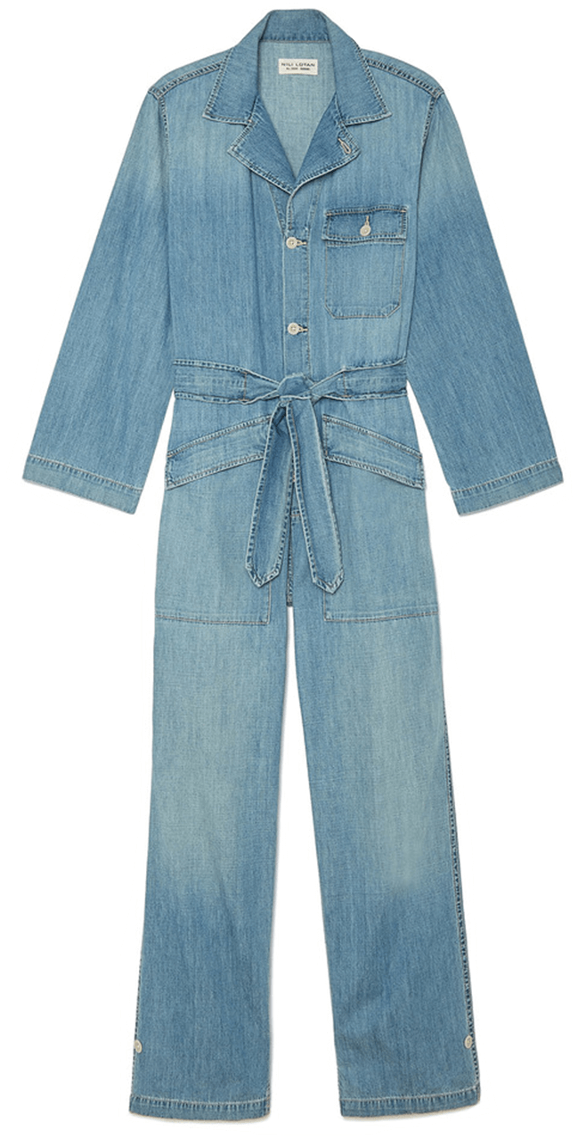 Nili Lotan Aria Denim Jumpsuit