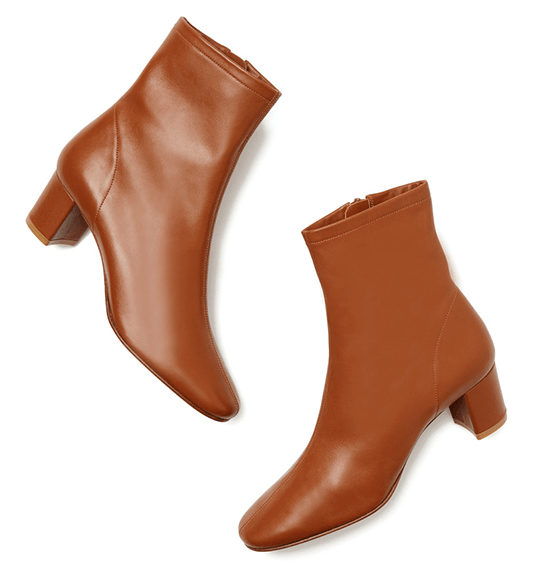 By Far Sofia Leather Booties