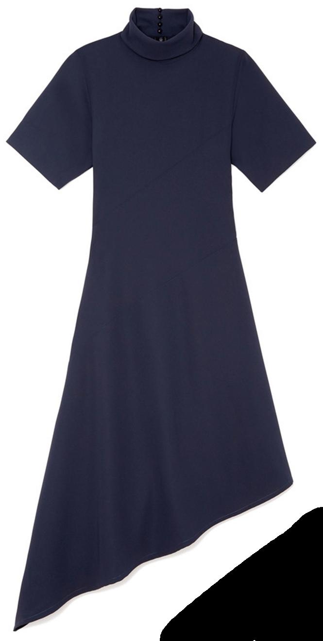 Ren asymmetrical-hem dress