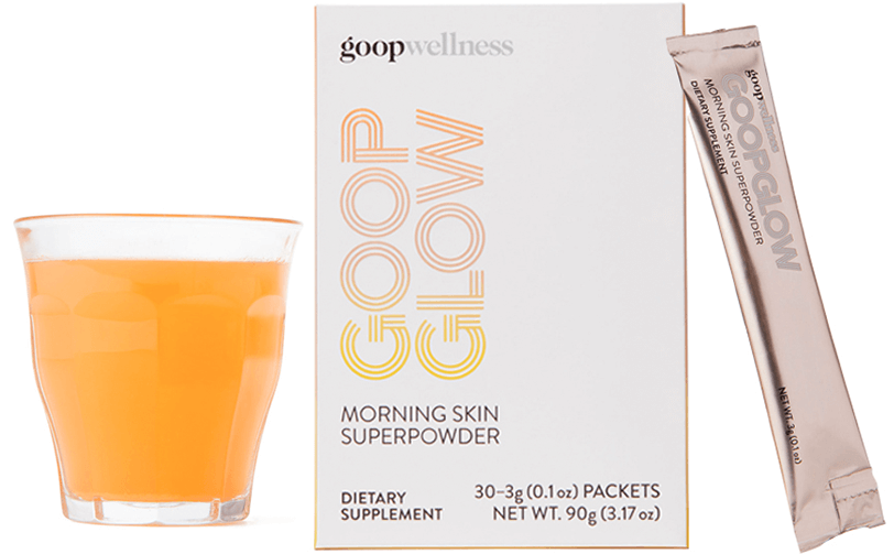 goopglow Box and glass of goopglow