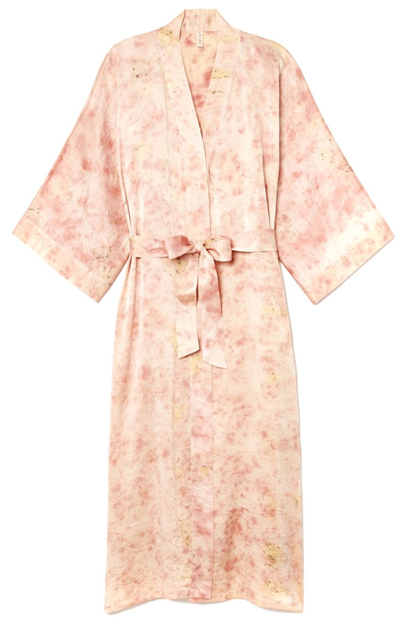 Elizabeth Few Studio Flower Dyed Leizu Silk Kimono