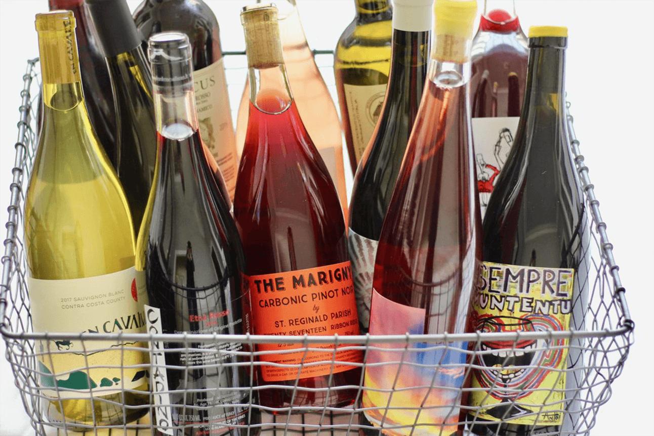 Natural Vino Bottles of Wine