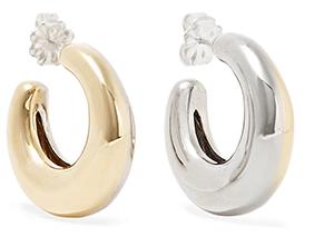 LEIGH MILLER Two-Tone Bubble hoop earrings