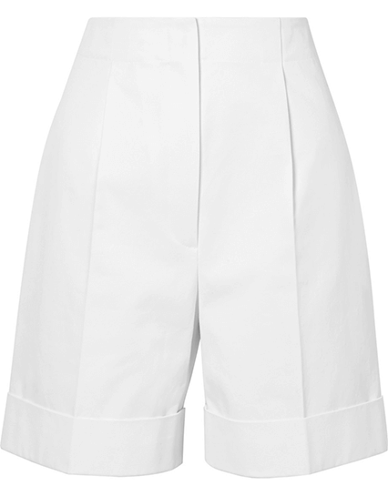 The Row Abby Cotton Twill Shorts