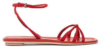 Prada Knot Front Suede Sandals