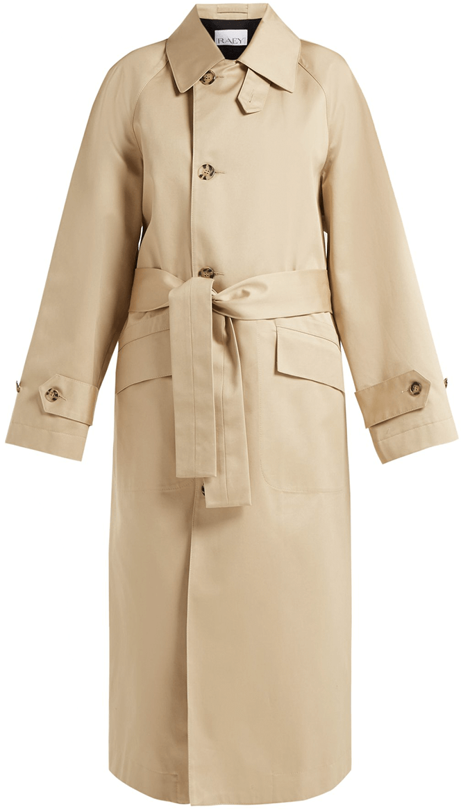 Raey Split Back Cotton Trench Coat