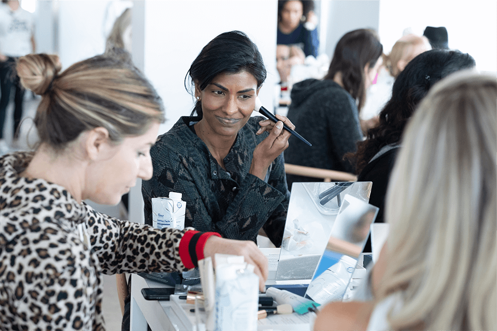 Guest using Beautycounter products